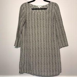 Joie Herringbone Pullover Silk Shift Dress Small
